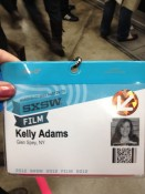 My SXSW badge