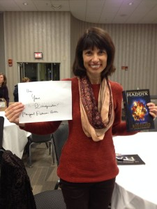 "Margaret Peterson Haddix - ""Use your imagination."""