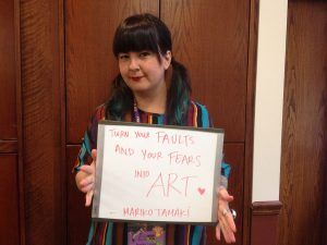 "Mariko Tamaki: ""Turn your faults and your fears into Art."""
