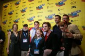 Cast and crew on the red carpet