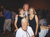 With my parents and grandmother at the Printz reception