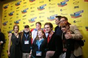 Me on the red carpet with the cast and crew before the premiere...